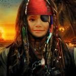 """Fotomontaje de rostro con """"Jack sparrow"""""""