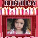 Decora tu foto con velas y regalos de cumpleaños