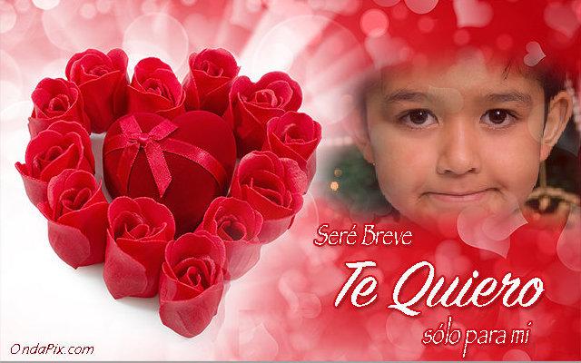 Fotomontaje De Amor Con Un Corazon De Rosas Rojas Fotomontajes Gratis