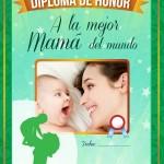 Diploma de honor a la mejor Mamá del mundo