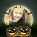Calabazas terroríficas de Halloween en Photomontager