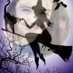 Temible montaje de halloween en la oscuridad