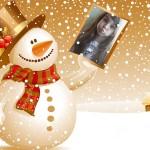 Un hermoso muñeco de nieve para tu foto navideña