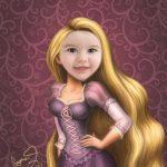 Crea un montaje a tu niña con Rapunzel