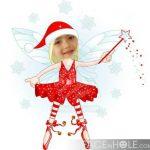 Fotomontaje infantil en un hada navideña!
