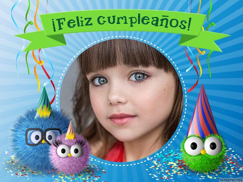 Fotomontaje De Cumpleaños Infantil Con Unos Lindos
