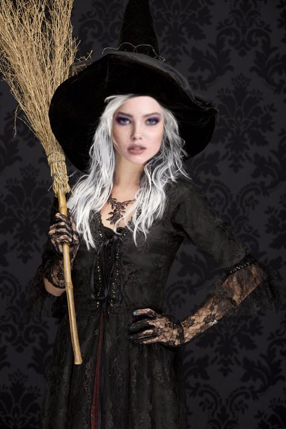 Montaje de halloween en el rostro de una bellas bruja! - Fotomontajes Gratis Fotomontajes Gratis